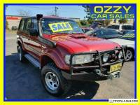 1991 Toyota Landcruiser Sahara (4x4) Red Automatic 4sp A Wagon