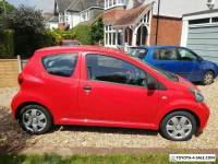 Toyota Aygo VVT-I Red Hatchback 2008 Low 47200 Mileage