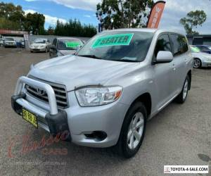 2009 Toyota Kluger GSU40R KX-R (FWD) 7 Seat Silver Automatic 5sp A Wagon for Sale