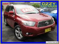 2009 Toyota Kluger GSU40R KX-S (FWD) Red Automatic 5sp A Wagon