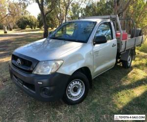 2010 Toyota Hilux TGN16R 09 Upgrade Workmate Silver Manual 5sp M Cab Chassis for Sale