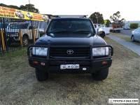 2001 Toyota Landcruiser FZJ105R GXL Black Automatic A Wagon